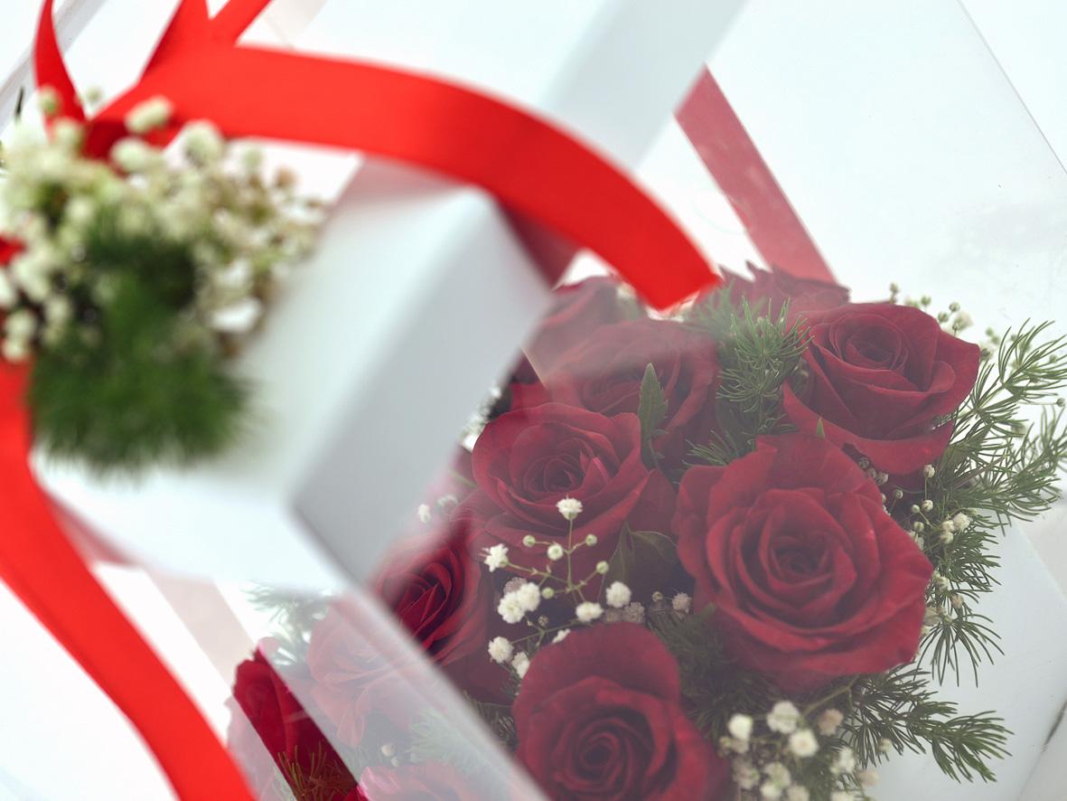 Aşkın Gizemi 11 Kırmızı Gül Kutuda Çiçek çiçek gönder