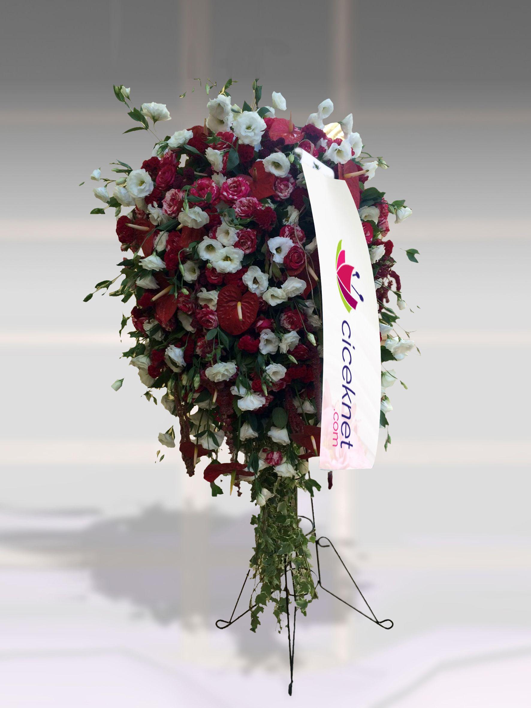 Ferforje Aranjmanı 2 Ayaklı Sepet çiçek gönder