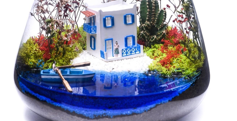 Mavi Rüya Terarium çiçek gönder