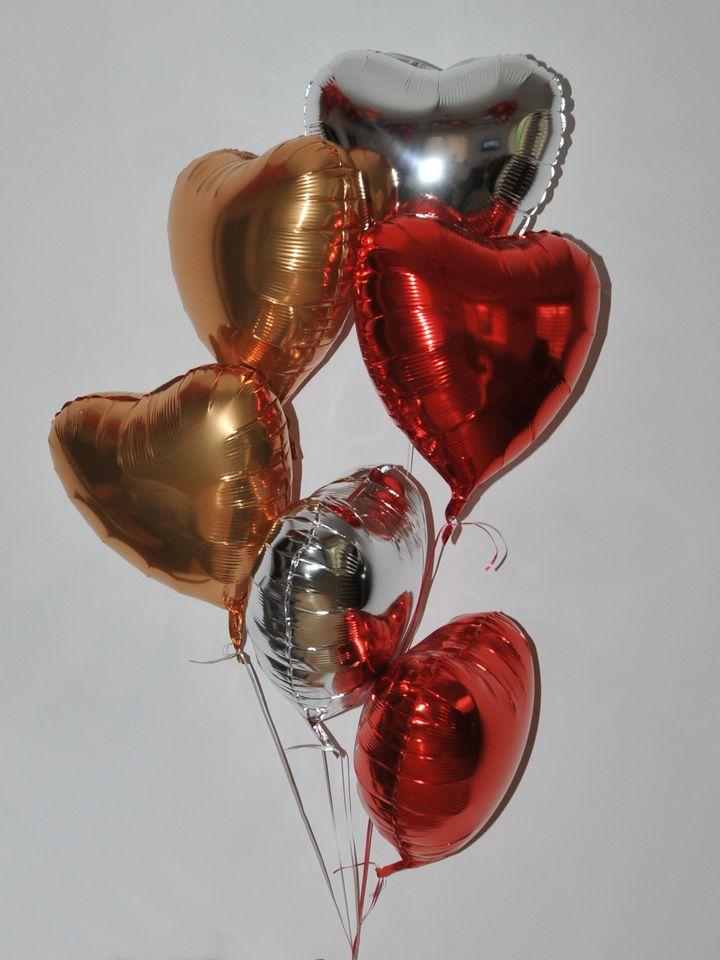 Uçan Kalpler 6 Adet Uçan Kalpli Balon  çiçek gönder