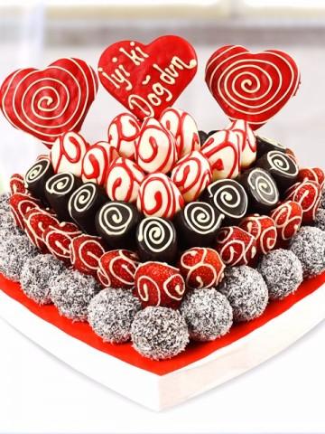 Happy Berry Meyve Sepeti ve Çikolatalar çiçek gönder