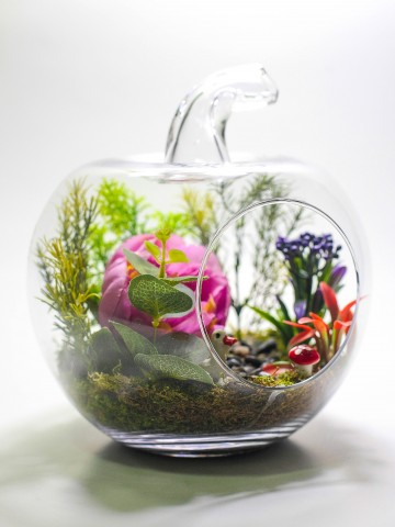 Renkli Dekoratif Yapay Teraryum Terarium çiçek gönder