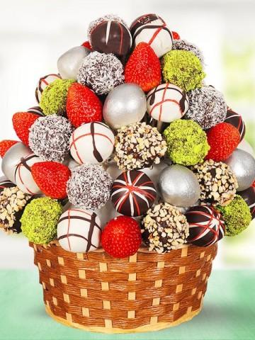 Deluxe Meyve Sepeti Meyve Sepeti ve Çikolatalar çiçek gönder