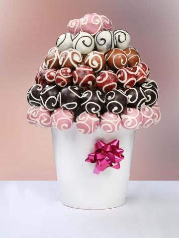 Karışık Truff Sepeti Meyve Sepeti ve Çikolatalar çiçek gönder