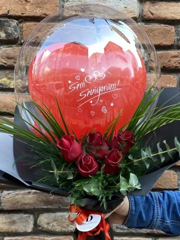 Balon Gül Buketi  Buketler çiçek gönder