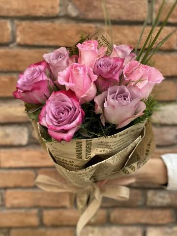 9 Adet İthal Gül Buketi  Buketler çiçek gönder