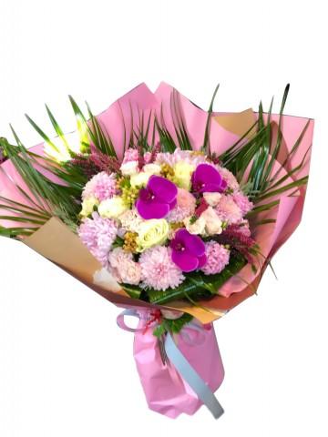 Orkideli El Buketi Buketler çiçek gönder