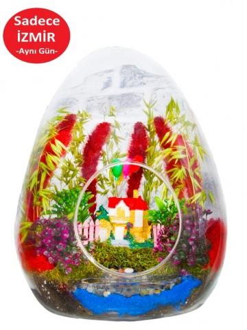 Huzur Bahçemiz Yapay Teraryum Terarium çiçek gönder