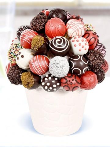 Enfes Truffle Lezzeti Meyve Sepeti ve Çikolatalar çiçek gönder