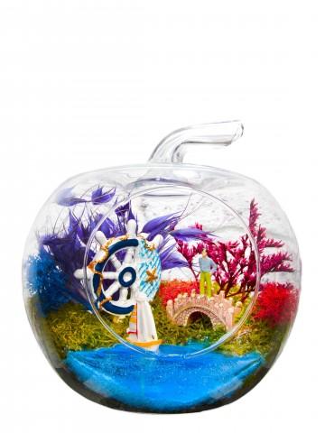 Akdeniz Konsepti Yapay Teraryum Terarium çiçek gönder
