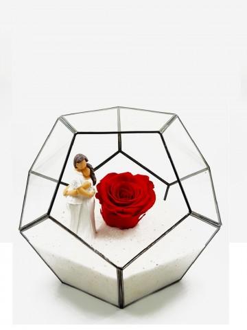 Geometrik Teraryum  Canım Sevgilim  Solmayan Güller  çiçek gönder