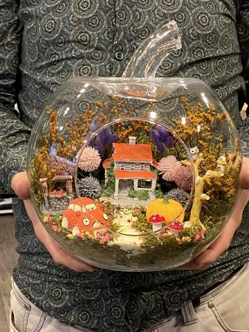 Renkli Bahçe Teraryum  Terarium çiçek gönder
