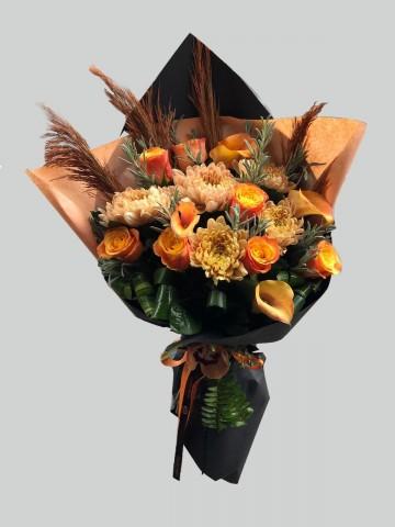 Sonbahar Renklerinden Buket Buketler çiçek gönder