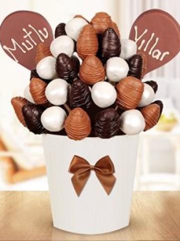 Çikolata Aşkı Meyve Sepeti Meyve Sepeti ve Çikolatalar çiçek gönder