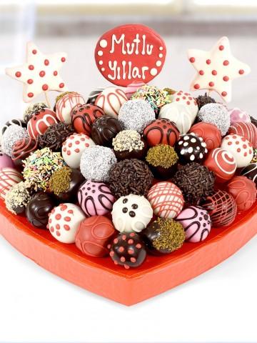Mutlu Anlar Lezzet Çiçekleri Meyve Sepeti ve Çikolatalar çiçek gönder