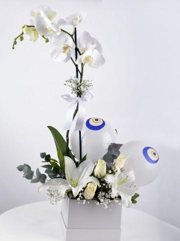 Tek Dileğim Beyaz Orkide Çiçeği Orkideler çiçek gönder