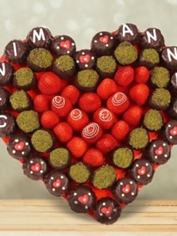 Mother Heart Meyve Sepeti ve Çikolatalar çiçek gönder