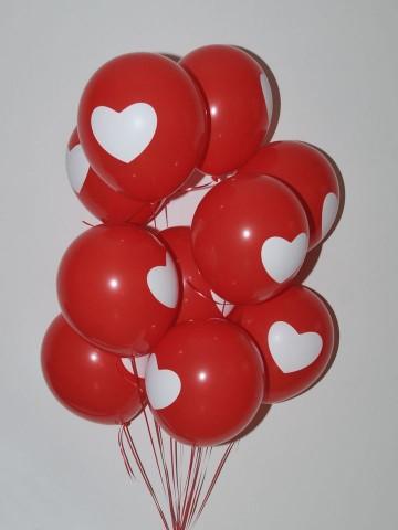 Kalp Desenli Balon Buketi  Balonlar çiçek gönder