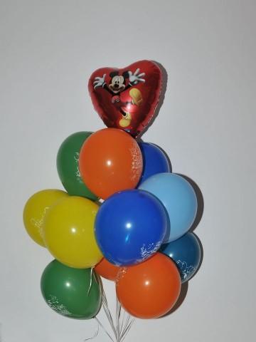 Micky'li Uçan Balon Buketi Balonlar çiçek gönder