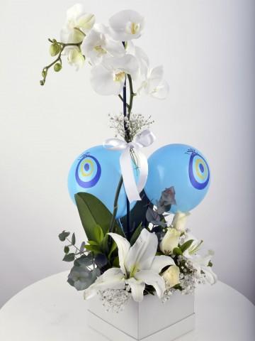 Bir Tek Sen... Beyaz Orkide Çiçeği Orkideler çiçek gönder