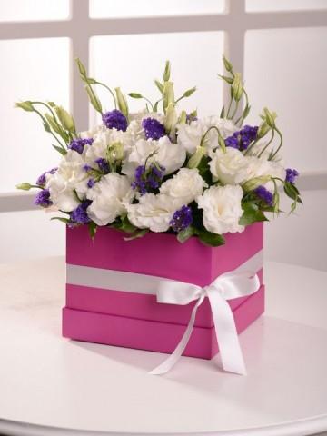 Neşe Kutusu Kutuda Çiçek çiçek gönder