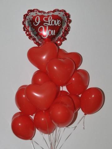 Seni Seviyorum Uçan Balon Buketi Balonlar çiçek gönder