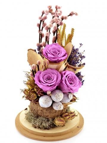 Lila Rengi Solmayan Güller Solmayan Güller  çiçek gönder