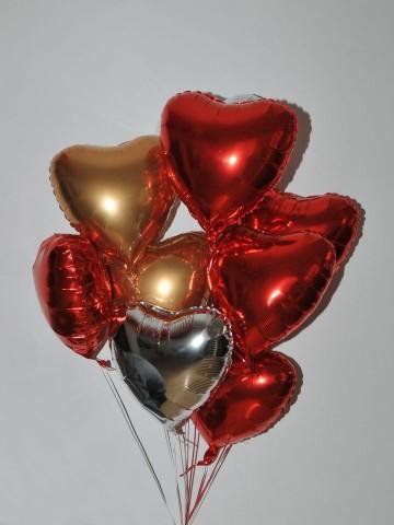 Renkli Kalpler 8 Adet Folyolu Uçan Balon Balonlar çiçek gönder