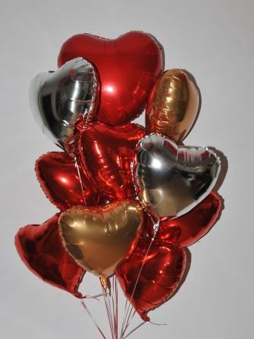 Renkli Kalpler Balon Buketi Balonlar çiçek gönder