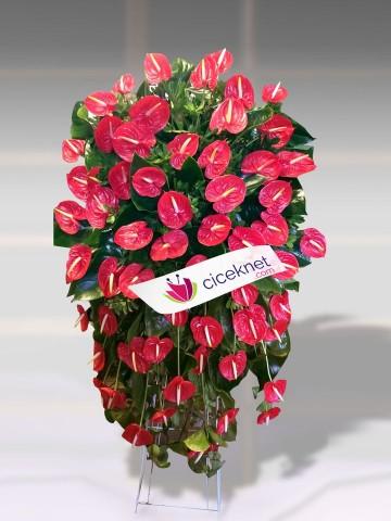 Kırmızı Antoryumlu Ferforje Ferforje çiçek gönder