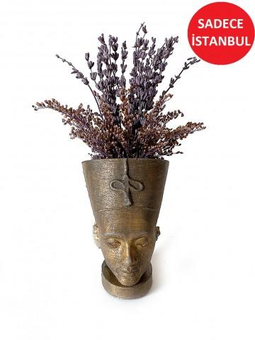 Nefertiti Seramikte  Şoklanmış Lavanta   Aranjmanlar çiçek gönder
