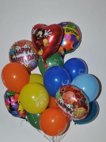 Doğum Günü Uçan Balon Buketi Balonlar çiçek gönder