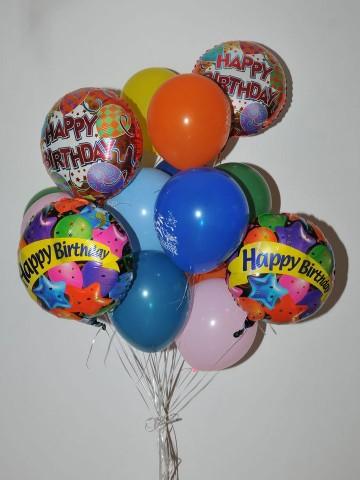 Renkli Happy Birthday Balon Buketi 3 Balonlar çiçek gönder