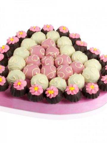 Lezzetli Pembe Meyve Sepeti ve Çikolatalar çiçek gönder