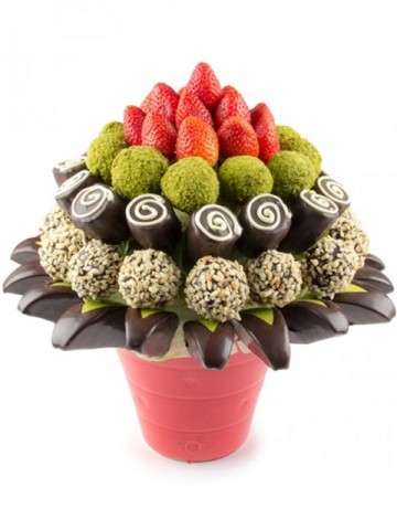 Sürpriz Tatlar Meyve Sepeti ve Çikolatalar çiçek gönder