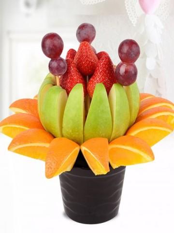 Fresh Stars Meyve Sepeti ve Çikolatalar çiçek gönder