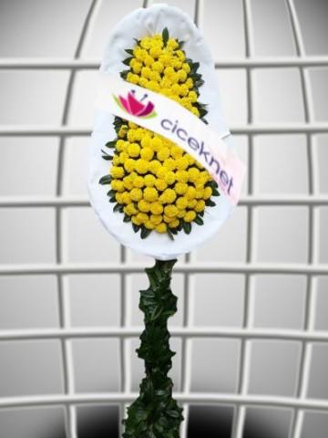 Sarı Cinyalı Ayaklı Sepet Düğün Çelenkleri çiçek gönder