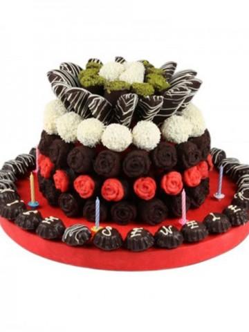 Cake Days Meyve Sepeti ve Çikolatalar çiçek gönder