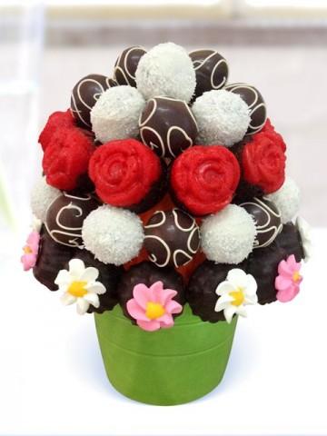 Kek Truffle Mix Meyve Sepeti ve Çikolatalar çiçek gönder