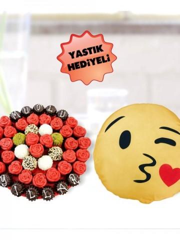 Tatlı Lezzetler Meyve Sepeti ve Çikolatalar çiçek gönder