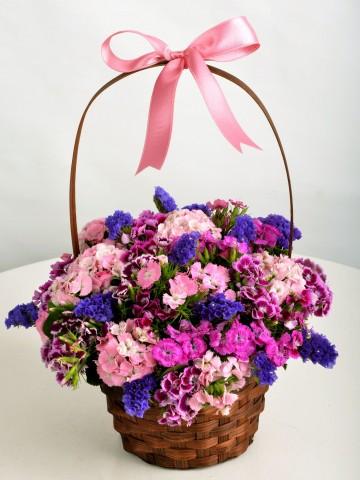Bir Sepet Bahar Aranjmanlar çiçek gönder