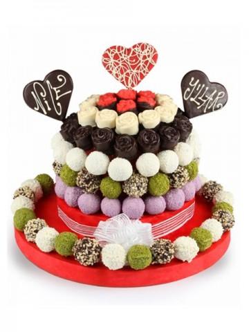 Happy King Meyve Sepeti ve Çikolatalar çiçek gönder