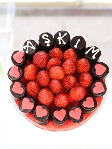 My Love Meyve Çiçeği Meyve Sepeti ve Çikolatalar çiçek gönder