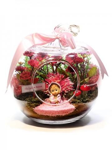Hoşgeldin Bebek (Erkek) Terarium çiçek gönder