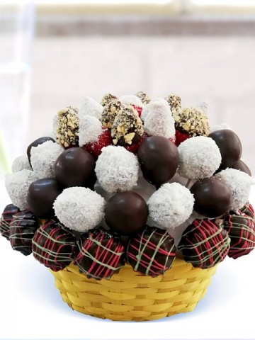 Lezzetli Renkler Meyve Sepeti ve Çikolatalar çiçek gönder