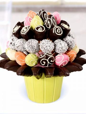 Fruit Mix Meyve Sepeti ve Çikolatalar çiçek gönder