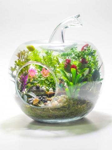 Yapay Teraryum Huzur Bahçesi Terarium çiçek gönder