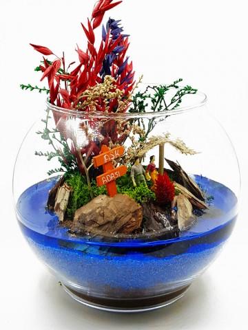 Aşk Adası Terarium çiçek gönder