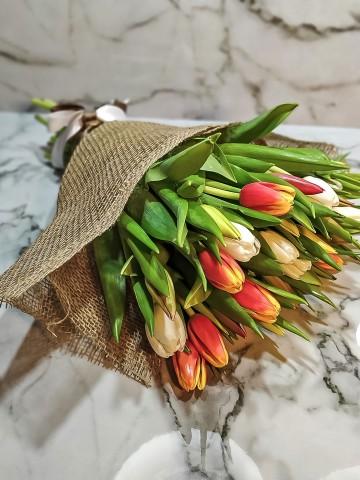 Rengarenk Lale Buketi Buketler çiçek gönder