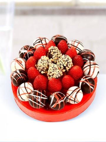 Red Sweet Meyve Sepeti Meyve Sepeti ve Çikolatalar çiçek gönder